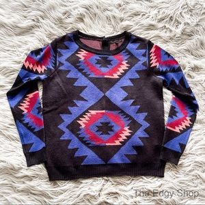 Lucca Couture | Pullover Sweater Aztec Tribal